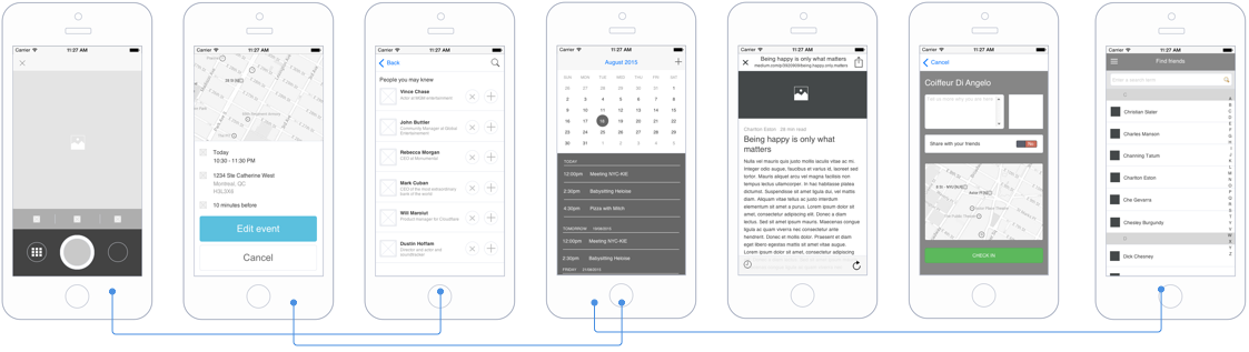 Central image for the Mobile Mockup Library
